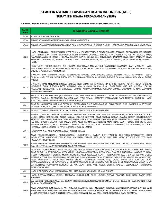Kode KBLI 2017 Terbaru sesuai OSS [+PDF]