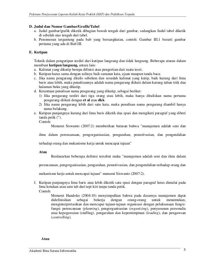 Panduan Laporan Kkp Dan Praktikum Terpadu