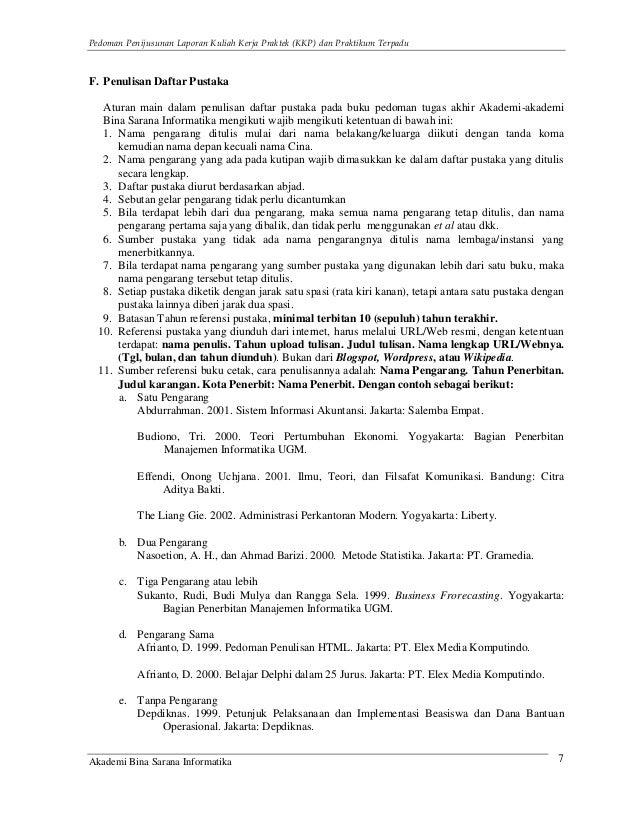 Contoh Daftar Pustaka Laporan Praktikum Contoh Waouw
