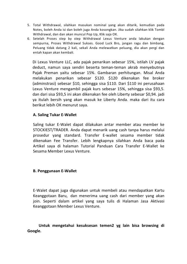 Panduan lengkap lexus venture bisnisinvestasionline.net