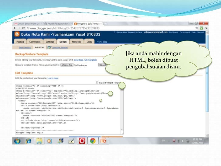 Blog anda boleh menjana  duit. Sertai program        adsense.