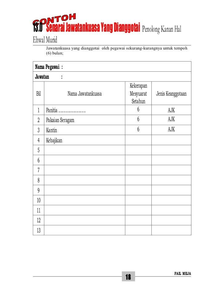 13.0 Senarai Jawatankuasa Yang Dianggotai Penolong Kanan HalEhwal Murid        Jawatankuasa yang dianggotai oleh pegawai s...