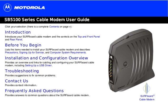 panduan pelanggan fast net cable modem motorola sb5101 rh slideshare net motorola sb5101u manual pdf motorola surfboard sb5101u manual