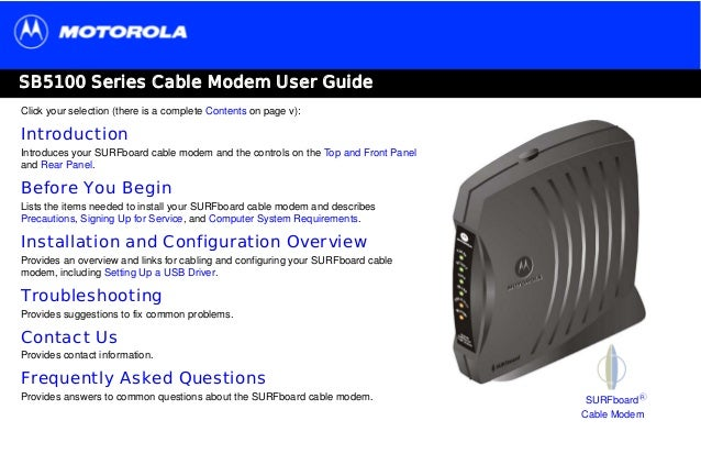 Motorola surfboard sb5101 cable modem 38mbps downstream, 30mbps.
