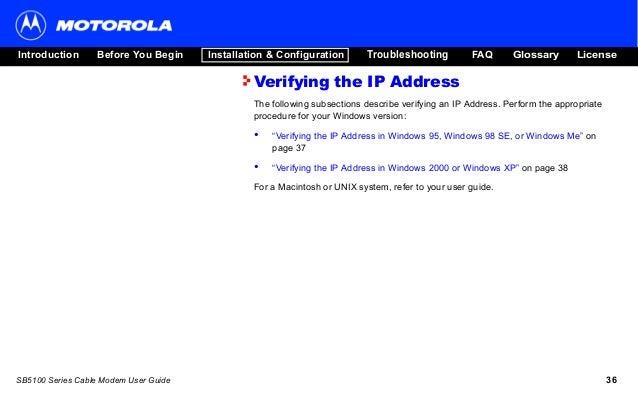 panduan pelanggan fast net cable modem motorola sb5101 rh slideshare net User Guides Samples User Manual Template