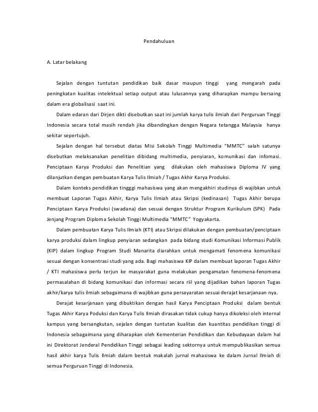 Penulisan Karya Ilmiah Panduan Pembuatan Makalah Jurnal