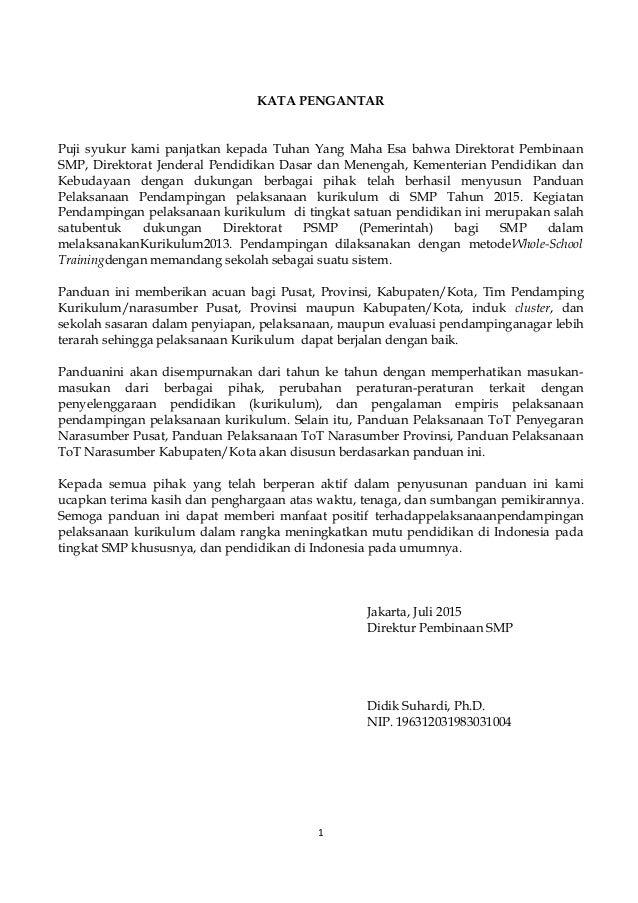 Panduan Pendampingan Kurikulum 2013