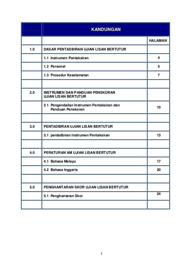 Panduan Pentadbiran Ujian Lisan Bertutur PT3