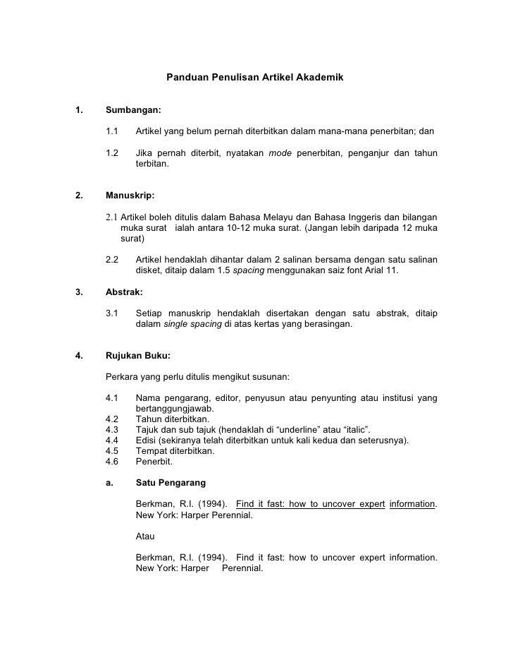 Panduan Penulisan Artikel Akademik2010