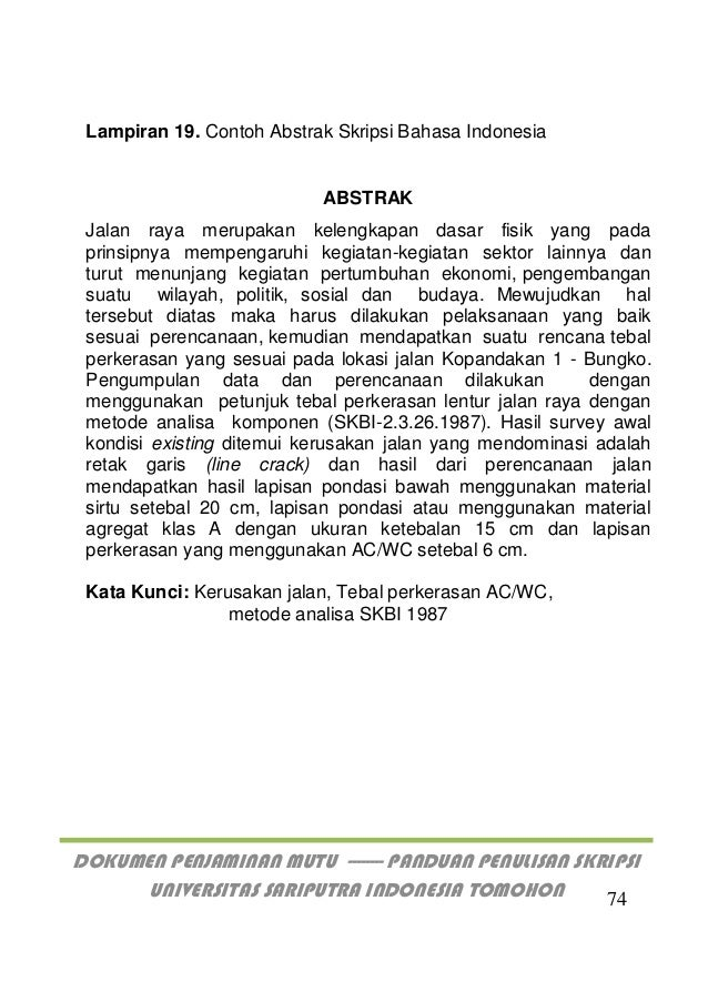 Panduan Penulisan Proposal Jurnal Skripsi Unsrit 2019