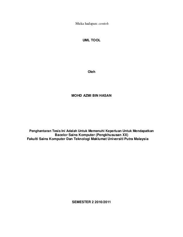 Panduan penulisan thesis