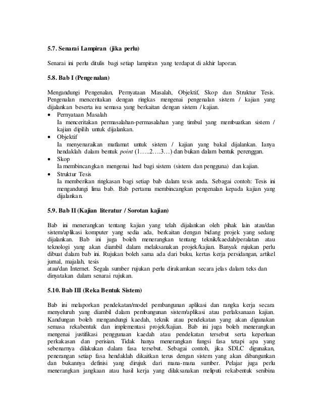 contoh penulisan bab 5 tesis Buku pedoman format penulisan ini disusun dengan tujuan (1) menyeragamkan pokok-pokok format penulisan tesis di ppsub, (2) sebagai pedoman bagi mahasiswa dalam menulis tesis dan (3) pedoman bagi komisi pembimbing dalam mengarahkan penulisan tesis.