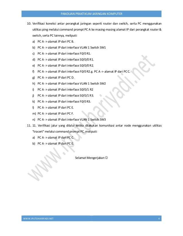 WWW.IPUTUHARIYADI.NET 5 PANDUAN PRAKTIKUM JARINGAN KOMPUTER BAB II SOLUSI PERHITUNGAN VLSM Alamat network 172.31.0.0/16 me...