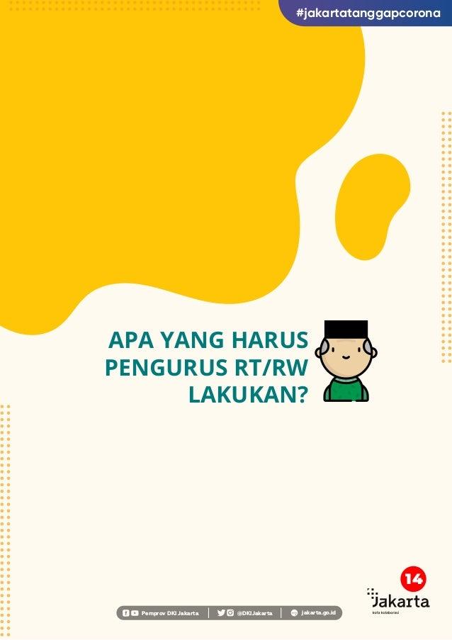 APA YANG HARUS PENGURUS RT/RW LAKUKAN? Pemprov DKI Jakarta @DKIJakarta jakarta.go.id #jakartatanggapcorona 14
