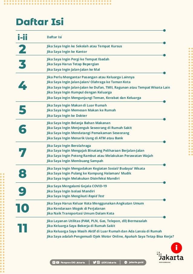 Daftar Isi 2 i-ii Daftar Isi Pemprov DKI Jakarta @DKIJakarta jakarta.go.id Jika Saya Ingin ke Sekolah atau Tempat Kursus J...