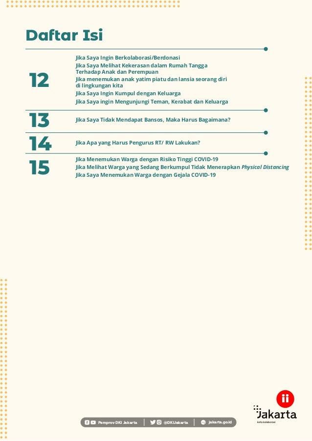 Daftar Isi Pemprov DKI Jakarta @DKIJakarta jakarta.go.id 13 Jika Saya Tidak Mendapat Bansos, Maka Harus Bagaimana? 15 Jika...