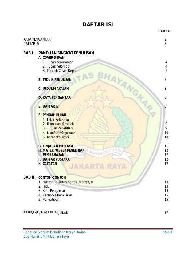 Contoh Daftar Isi Tesis Hukum Moco Wo