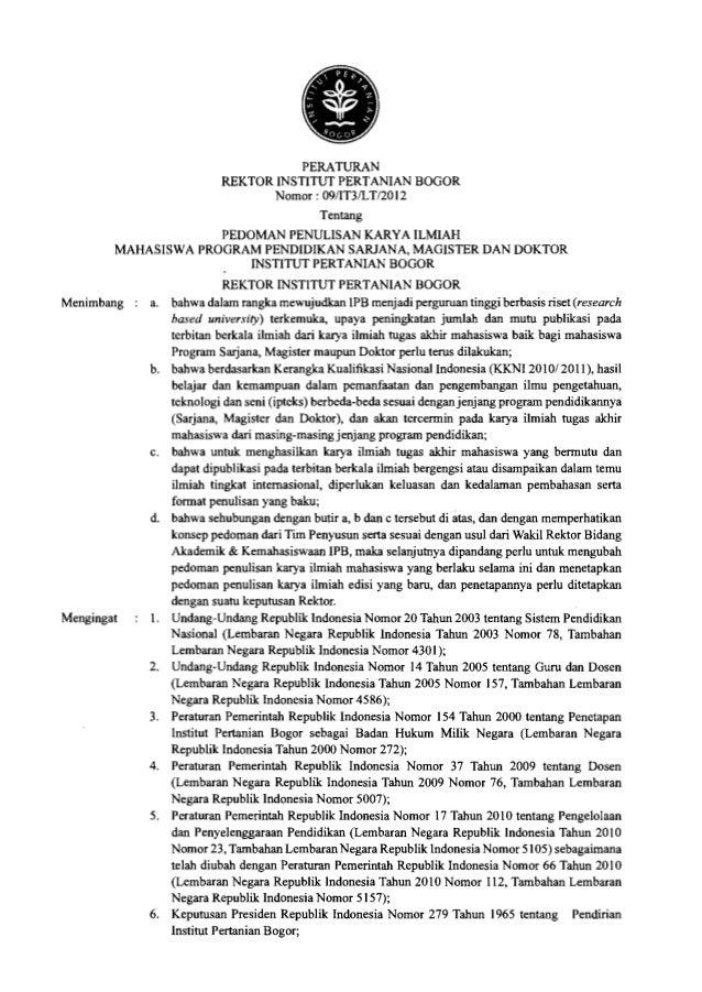 x 7. Ketetapan Majelis Wali Amanat Institut Pertanian Bogor Nomor 171MWA-IPB/2003 tentang Anggaran Rumah Tangga Institut P...
