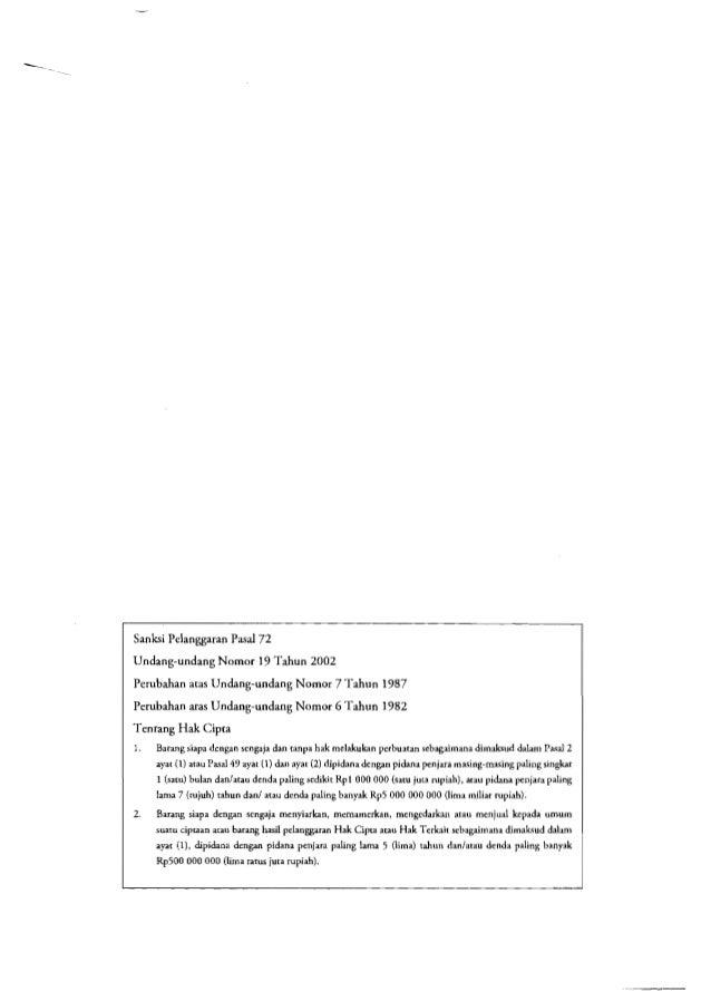 Sanksi Pelanggaran Pasal 72 Undang-undang Nomor 19 Tahun 2002 Perubahan atas Undang-undang Nomor 7 Tahun 1987 Perubahan at...