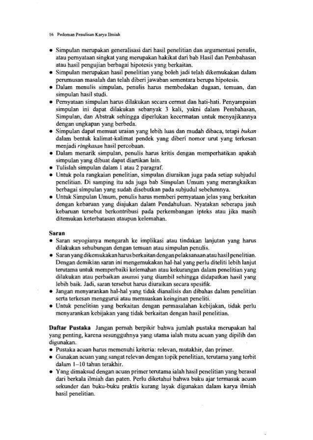 18 Pedoman Penulisan Karya Ilmiah • Kegiatan penulis di luar akademik yang menunjang pendidikan juga baik dicantumkan, ter...