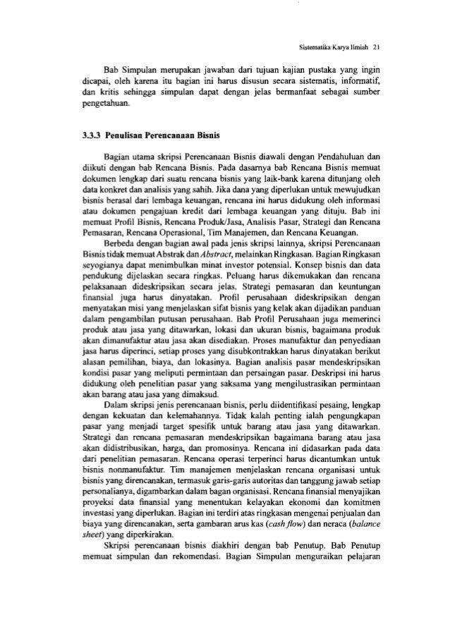 Sistematika Karya Ilmiah 23 Kegiatan Praktik Hasil kerja dapat ditulis dalam 1 atau beberapa bab, bergantung pada volume k...