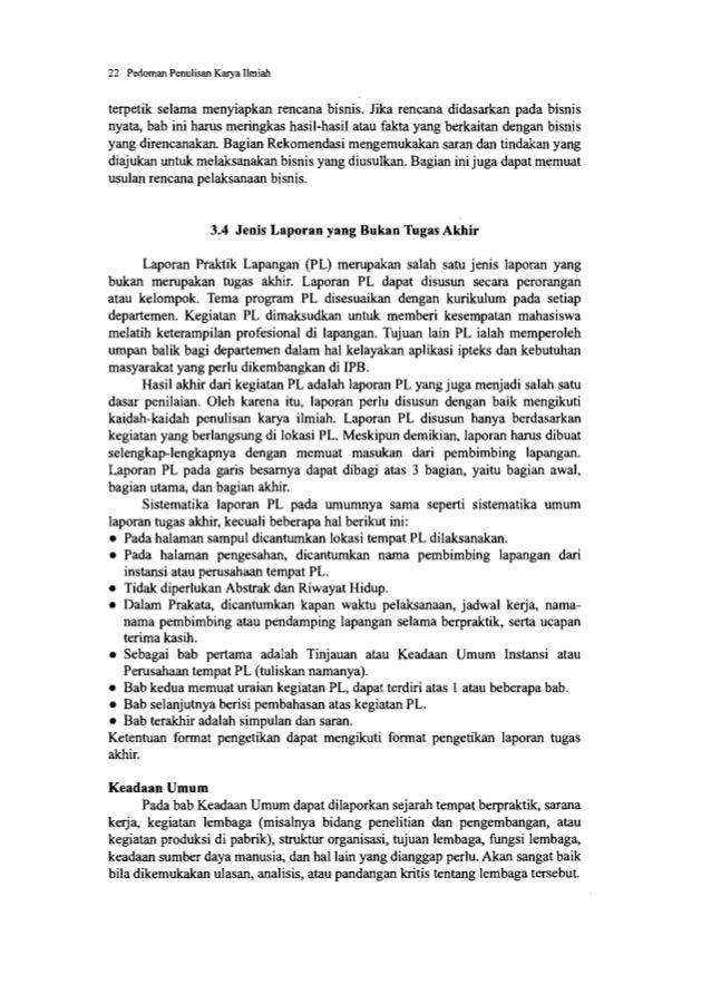 24 Pedoman Penulisan Karya Ilmiah 3.6 Artikel pada Terbitan Berkala Ilmiah 3.6.1 Pentingnya Publikasi Hasil Penelitian Pen...