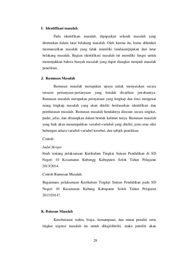 Contoh Identifikasi Masalah Dalam Skripsi Teknik Informatika Kumpulan Berbagai Skripsi