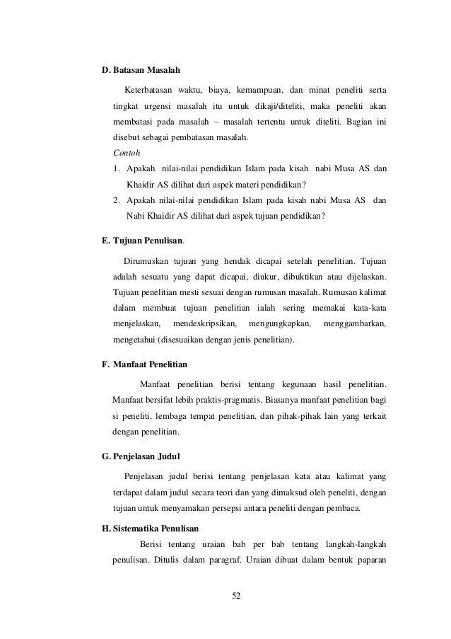 Contoh Pembatasan Masalah Dalam Skripsi Contoh Resource