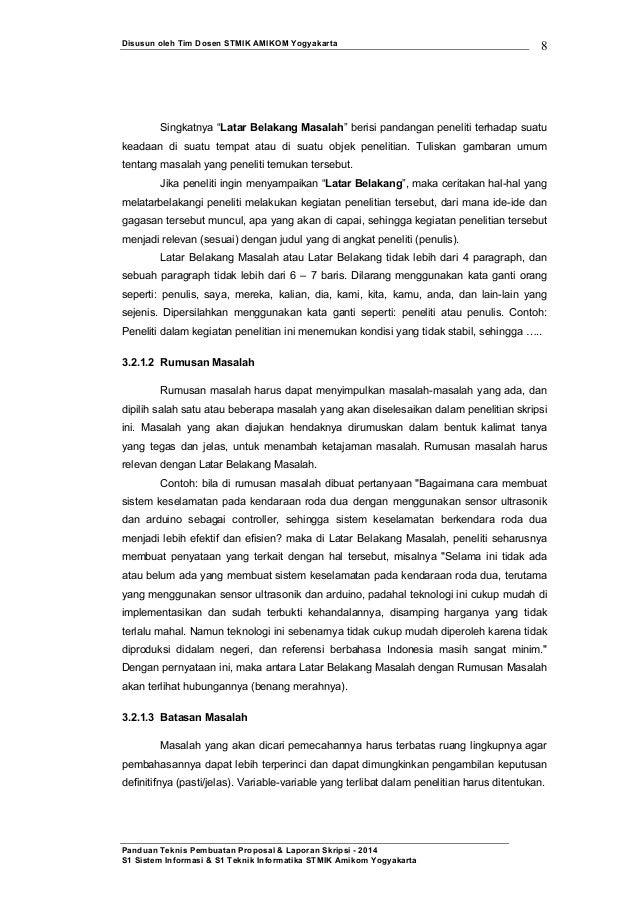 Panduan teknis pembuatan proposal & laporan skripsi