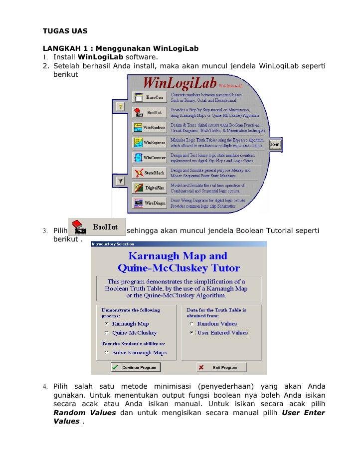 TUGAS UAS  LANGKAH 1 : Menggunakan WinLogiLab 1. Install WinLogiLab software. 2. Setelah berhasil Anda install, maka akan ...