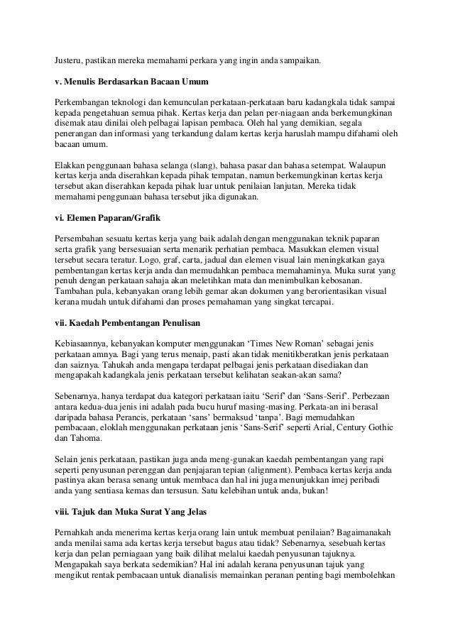 Panduan utama penulisan kertas kerja perniagaan