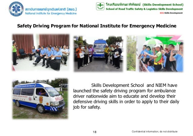 SAFETY DRIVING COURSE; 18.