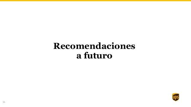 15 Recomendaciones a futuro