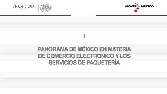 I PANORAMA DE MÉXICO EN MATERIA DE COMERCIO ELECTRÓNICO Y LOS SERVICIOS DE PAQUETERÍA