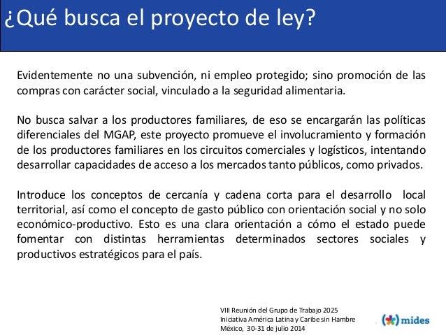 VIII Reunión del Grupo de Trabajo 2025 Iniciativa América Latina y Caribe sin Hambre México, 30-31 de julio 2014 ¿Qué busc...