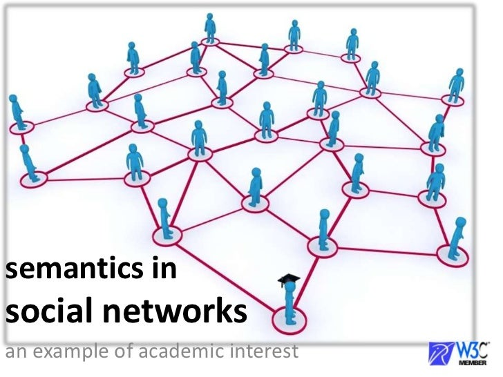 semantics insocial networks<br />an example of academic interest  <br />