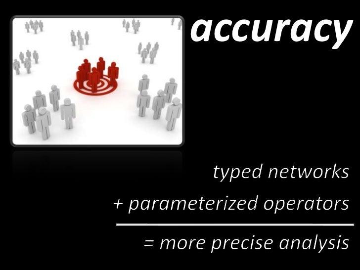 semantic social network analysis stack<br />exploit the semantic of typed social graphs<br />