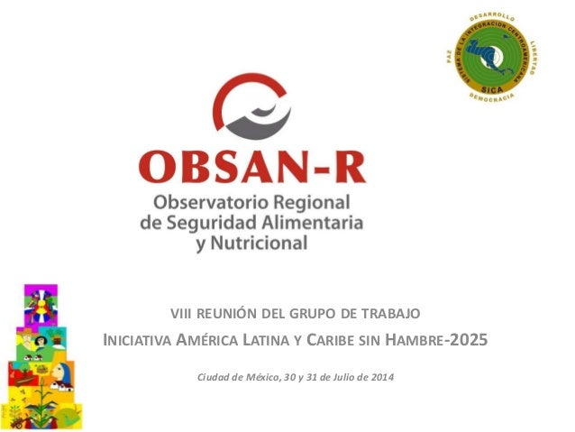 VIII REUNIÓN DEL GRUPO DE TRABAJO INICIATIVA AMÉRICA LATINA Y CARIBE SIN HAMBRE-2025 Ciudad de México, 30 y 31 de Julio de...