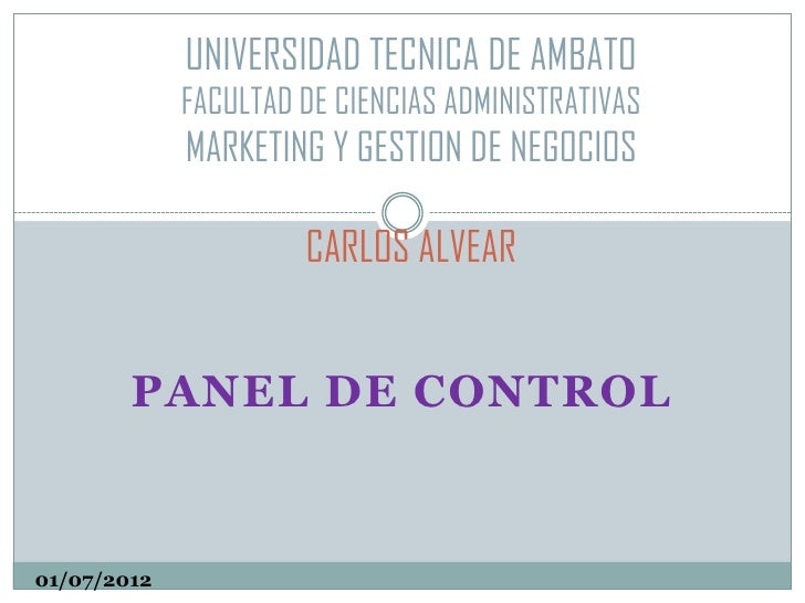 UNIVERSIDAD TECNICA DE AMBATO             FACULTAD DE CIENCIAS ADMINISTRATIVAS             MARKETING Y GESTION DE NEGOCIOS...