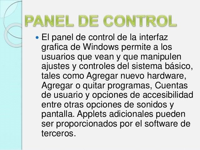 Panel de control windows 8 for Que significa hardware