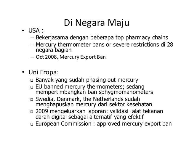Upaya Phase Out Penggunaan Merkuri Di Sektor Kesehatan Dialog Intera