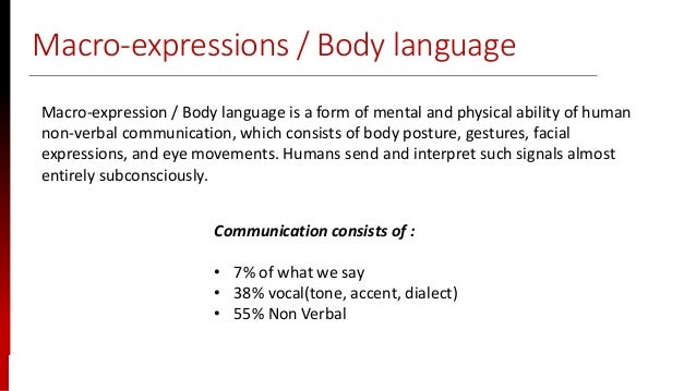 www.sisainfosec.com Macro-expressions / Body language Macro-expression / Body language is a form of mental and physical ab...