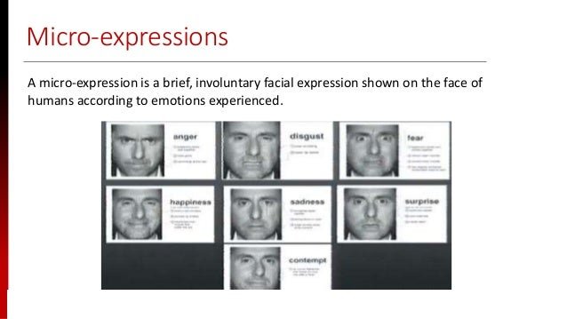 www.sisainfosec.com Micro-expressions A micro-expression is a brief, involuntary facial expression shown on the face of hu...