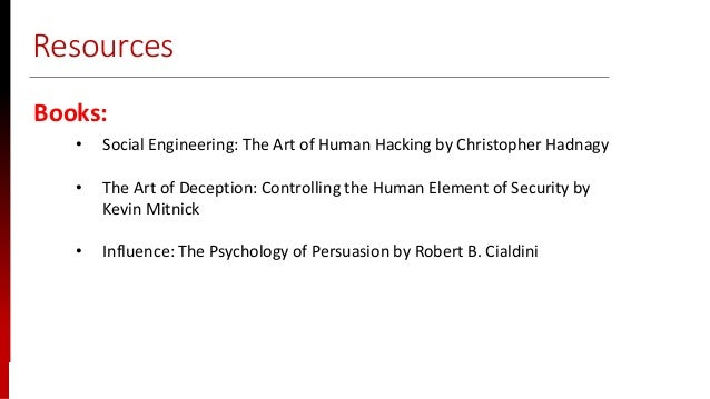 www.sisainfosec.com Resources Books: • Social Engineering: The Art of Human Hacking by Christopher Hadnagy • The Art of De...