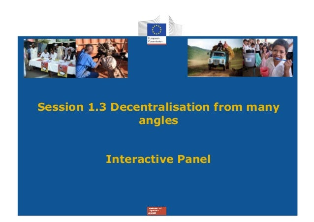Session 1.3 Decentralisation from many                angles          Interactive Panel