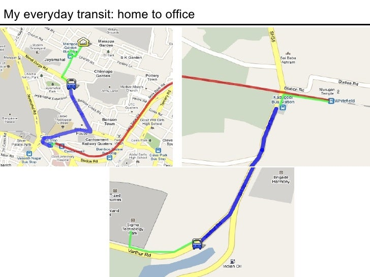 My everyday transit: home to office