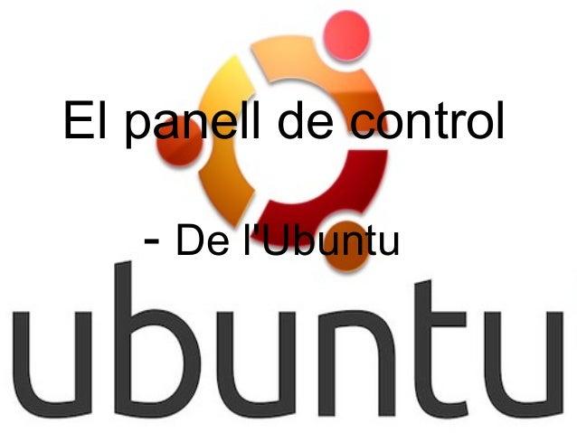 El panell de control   - De lUbuntu