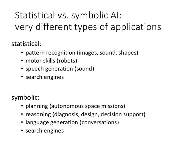 On The Nature Of Ai And The Relation Between Symbolic And Statistica