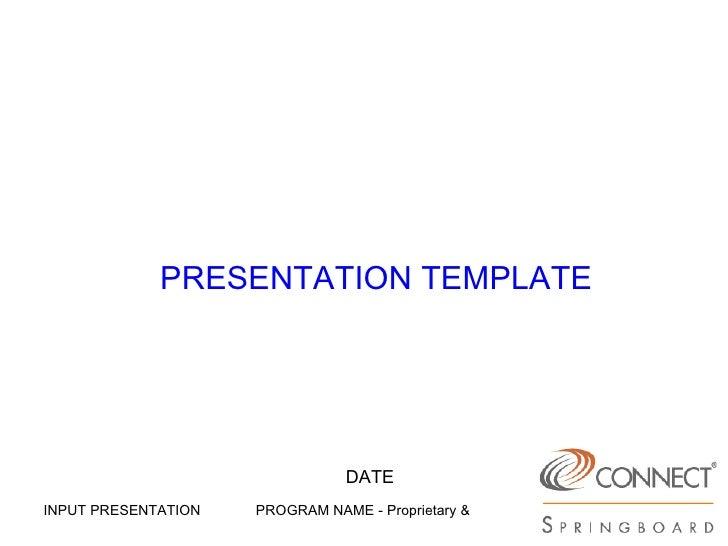 PRESENTATION TEMPLATE DATE