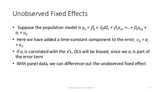 ICAR-IFPRI: Panel regression lecture 5 Devesh Roy